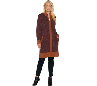Linea Leisure by Louis Dell'Olio Double Zip Long Cardigan - A282504