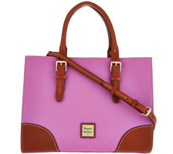 """As Is"" Dooney & Bourke Pebble Leather Janine Satchel - A282604"