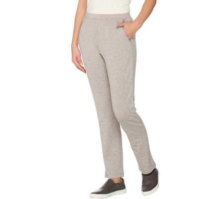 """As Is"" LOGO Lounge by Lori Goldstein Regular Pants with Mesh Trim"