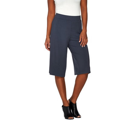 """As Is"" LOGO by Lori Goldstein Knit Culotte Pant"