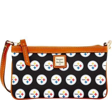 Dooney & Bourke NFL Steelers Large Slim Wristlet