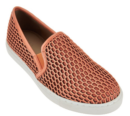 """As Is"" LOGO by Lori Goldstein Slip-on Mesh Sneakers with Double Goring"