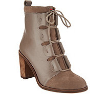 ED Ellen DeGeneres Leather & Suede Ankle Boots - Wallee - A297004