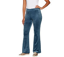 AnyBody Loungewear Petite Velour Flare Pants - A297304