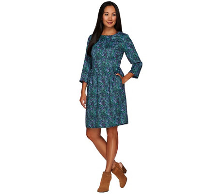 """As Is"" Isaac Mizrahi Live! Novelty Floral Tapestry Jacquard Dress"