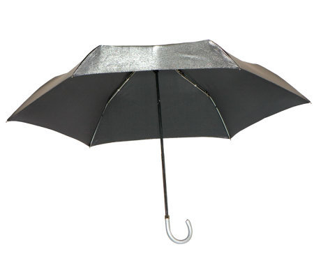 Leighton Shimmer Manual Open Compact Parasol Umbrella