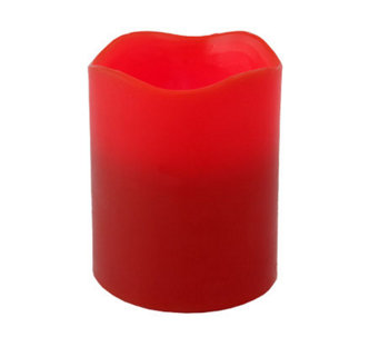 Pacific Accents 4x5 Red Melted-Top Candle - A327604
