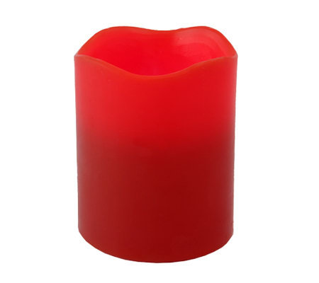 Pacific Accents 4x5 Red Melted-Top Candle