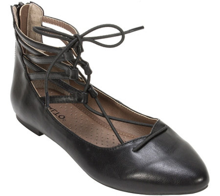 Rialto Lace-up Pointed Toe Flat - Sondra
