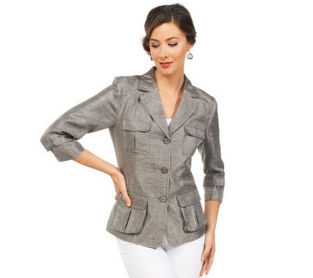 Joan Rivers Safari Style 3/4 Sleeve Jacket