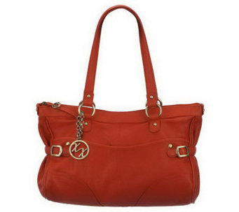 """As Is""Maxx New York Nappa Leather Satchel - A228005"
