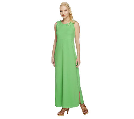 Denim & Co. Knit Sleeveless Maxi Dress w/ Back Detail