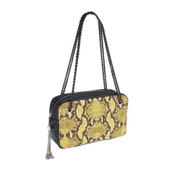 Aimee Kestenberg Pebble Leather Rose Quilted Shoulder Bag