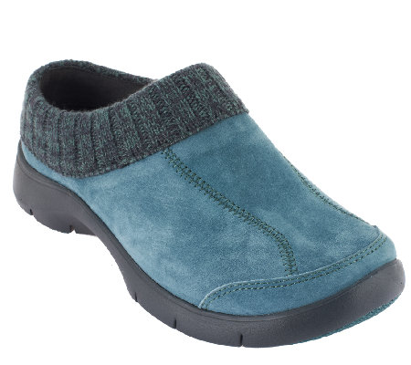 Dansko Suede Slip-on Mules with Heathered Trim - Eartha