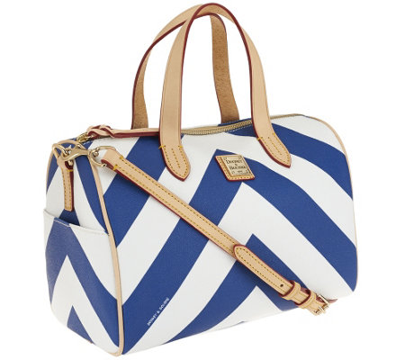 Dooney & Bourke Large Chevron Olivia Satchel