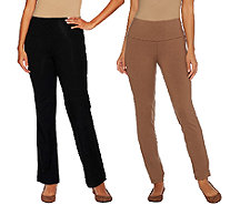 Women with Control Tall Tummy Control Boot Cut and Ankle Pants Set - A266905