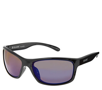Solarite Shadow Modern Frame Sunglasses with Microfiber Case - A269105