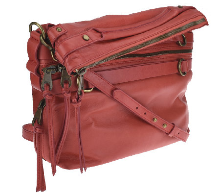 """As Is"" Joelle Hawkens by Treesje Leather Foldover Victory Satchel"