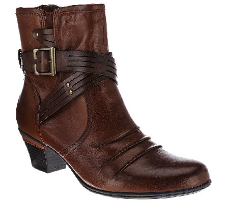 Earth Leather Ankle Boots w/ Multi-strap Detail - Odyssey