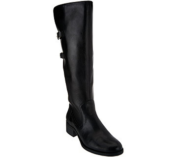 Isaac Mizrahi Live! Riding Boots with Straps - Wide Calf - A270205