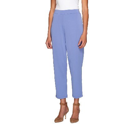 """As Is"" Susan Graver Premier Knit Wide Leg Crop Pants"