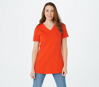 Isaac Mizrahi Live! Essentials V-Neck Tunic w/ Side Slits - A272505