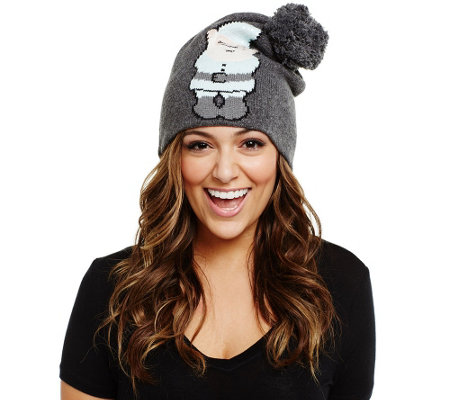 Bethany Mota Gnome Sweater Knit Pom Pom Hat