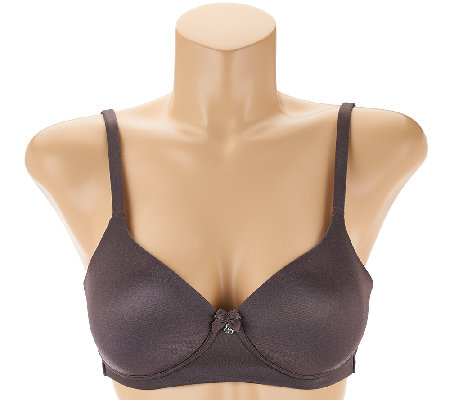 """As Is"" Breezies Modesty Lined Wirefree Convertible Bra"
