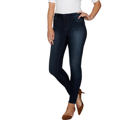 Hot in Hollywood Pull-On Skinny Ankle Jeans