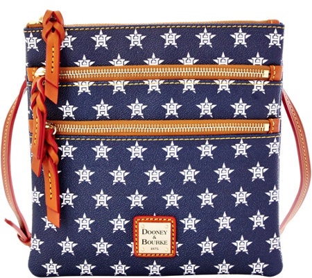 Dooney & Bourke MLB Astros Triple Zip Crossbody