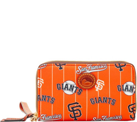Dooney & Bourke MLB Nylon Giants Zip Around Phone Wristlet