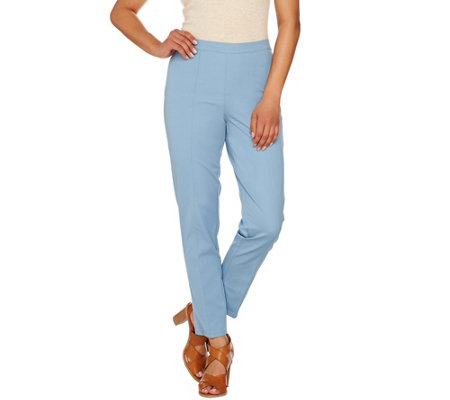 """As Is"" Isaac Mizrahi Live! Petite 24/7 Stretch Ankle Pants w/ Seam"