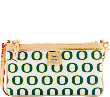Dooney & Bourke NCAA University of Oregon Slim Wristlet
