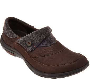 Merrell Leather and Textile Slip-on Shoes - Dassie Fold Mac - A284905
