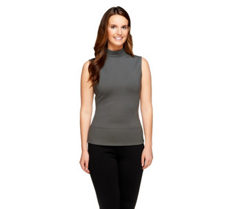 """As Is"" G.I.L.I. Milano Ponte Sleeveless Turtleneck Top - A285305"