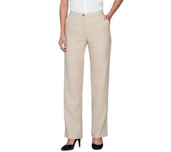 """As Is"" Linea by Louis Dell'Olio Fly Front Pants Regular Fit - A285905"