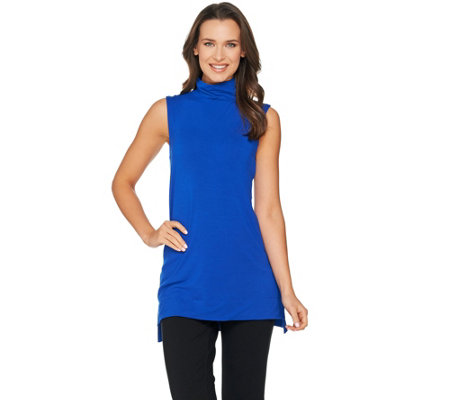 H by Halston Essentials Sleeveless Turtleneck Knit Tunic