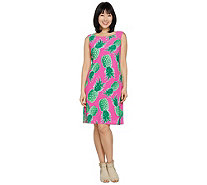 C. Wonder Pineapple Print Sleeveless Knit Dress - A289705