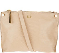 """As Is"" H by Halston Lizard Embossed Crossbody Handbag - A295405"