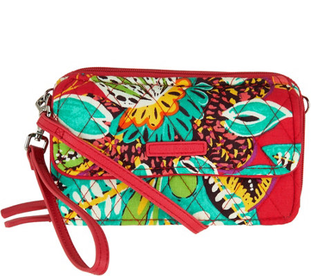 """As Is"" Vera Bradley Signature All in One RFID Crossbody"