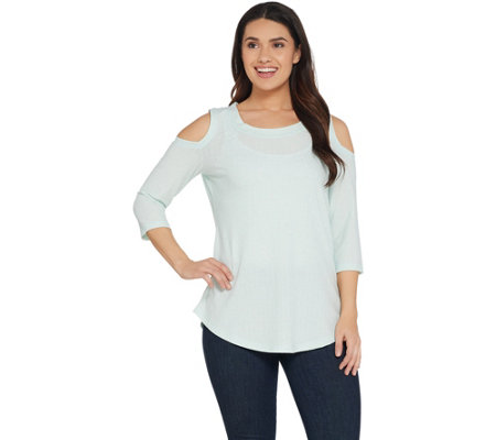 Isaac Mizrahi Live! SOHO 3/4 Sleeve Cold Shoulder Tunic