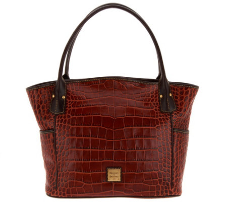 """As Is"" Dooney & Bourke Croco Kristen Tote Handbag"