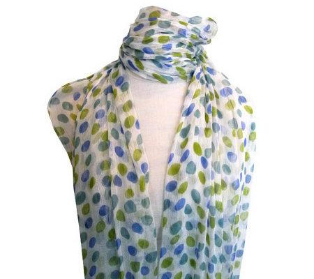 bellissima multicolor dot design scarf page 1 qvc