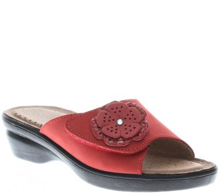 Flexus by Spring Step Leather Slide Sandals - Fabia