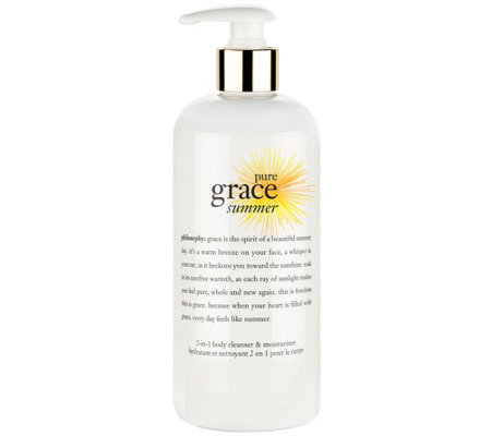 philosophy pure grace summer 2 in 1 cleanser 16oz
