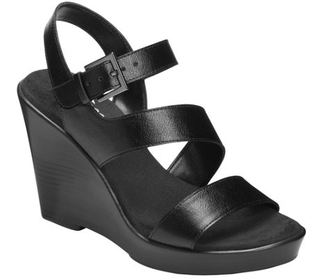 Aerosoles Heel Rest Wedge Sandals - Explorative
