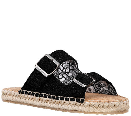 Sakroots Double Band Slide Espadrille Sandals -Mandy