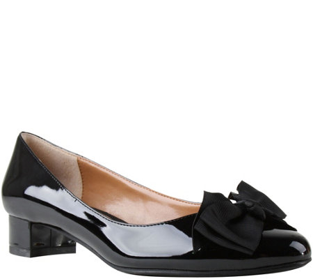 J. Renee Patent Low Heel Pumps - Cameo