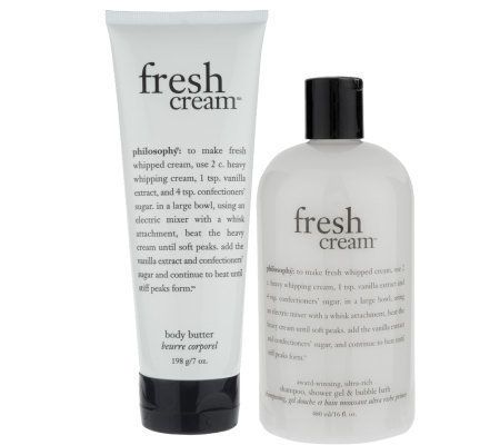 philosophy fresh cream 16ozshowergel & 7oz body butter duo