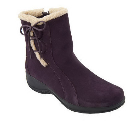 Clarks Bendables Angie Madi Water Resistant Suede Boots
